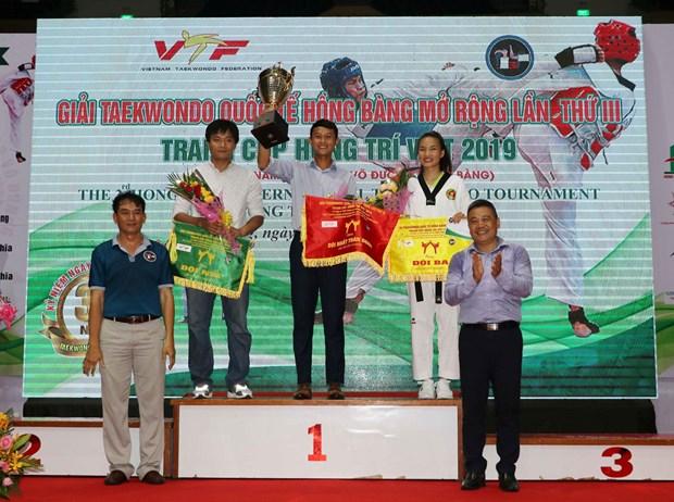 第三届鸿庞国际跆拳道公开赛闭幕 hinh anh 1