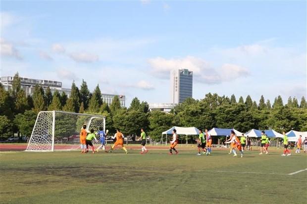800余名在韩越南留学生积极参加第12届运动会 hinh anh 1