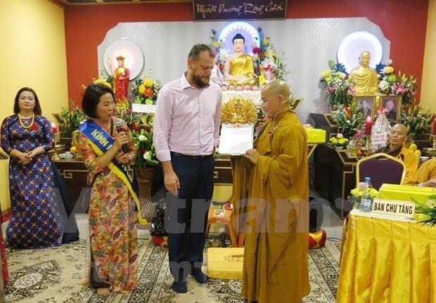旅居捷克越南人的首个州级佛教文化中心问世 hinh anh 1