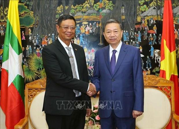 加强越南与缅甸安全合作 hinh anh 1