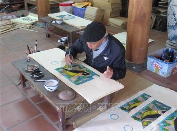 东湖民间画申报入选《急需保护的非物质文化遗产名录》的档案正在完善中 hinh anh 1