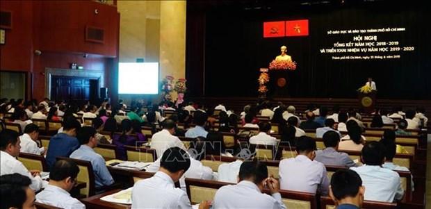 胡志明市市委书记阮善仁:胡志明市继续高度重视教育发展 hinh anh 1