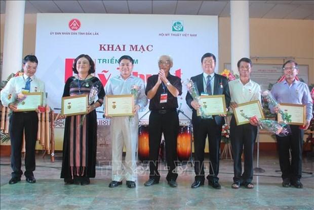 越南中部以南和西原地区美术展在得乐省举行 hinh anh 2