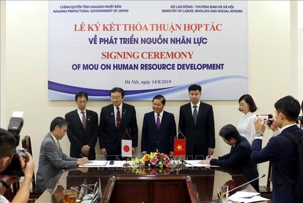 越南与日本合作发展人力资源 hinh anh 1