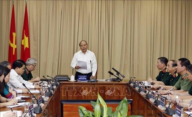 越南政府总理阮春福视察胡志明主席陵修缮工程 hinh anh 2