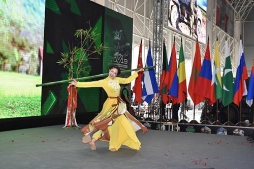 越南独特文化亮相2019年国际军事比赛 hinh anh 2