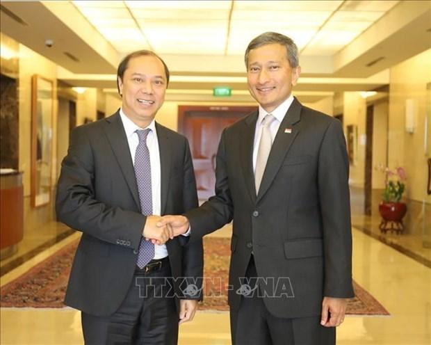 越南与新加坡外交部召开第十二次政治磋商 hinh anh 1
