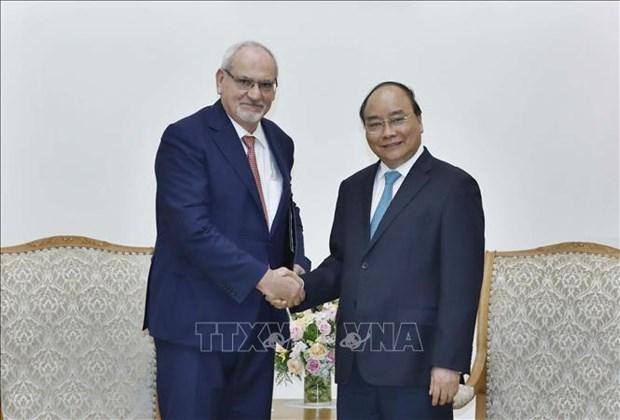 阮春福总理会见世界银行集团国际金融公司首席执行官 hinh anh 1