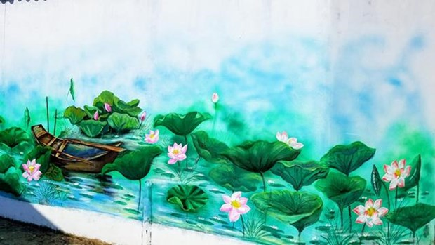 在三江泻湖区的壁画村 hinh anh 2