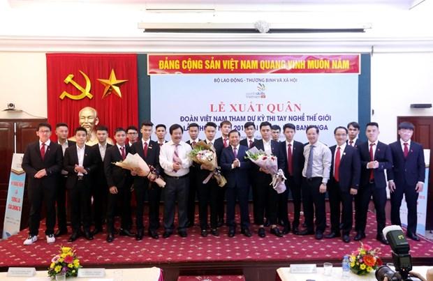 越南代表团力争在第45届世界技能大赛中获得佳绩 hinh anh 1