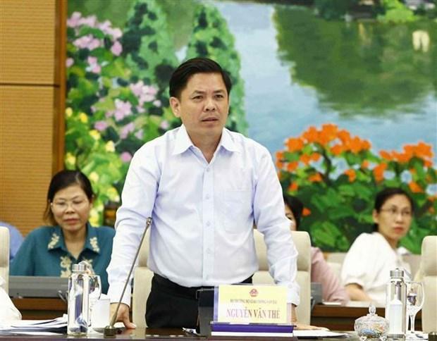 国会常委会第36次会议:交通运输部部长就机场投资社会化等问题答复询问 hinh anh 1