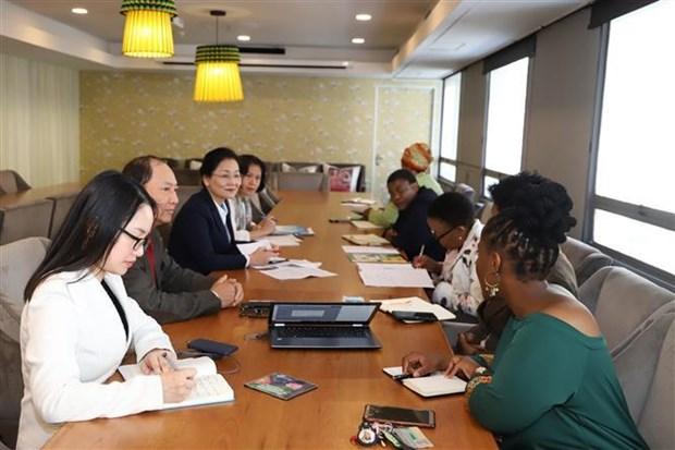 越南与南非加强合作 致力于妇女的发展 hinh anh 1