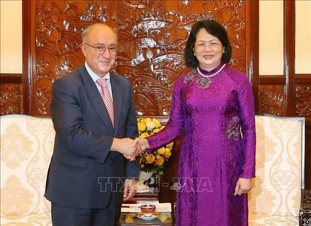国家副主席邓氏玉盛会见德国世界大学协助组织主席 hinh anh 1