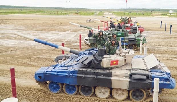 2019年俄罗斯国际军事比赛:越南坦克队赢得小组第二名 hinh anh 1