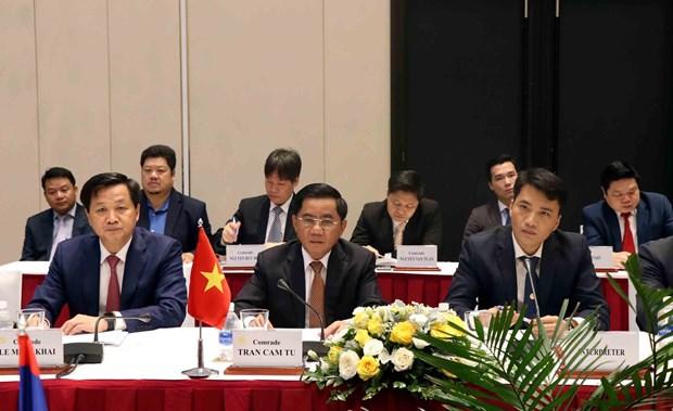 越共中央检查委员会代表团与老挝人民革命党中央纪检委员会代表团会谈 hinh anh 1