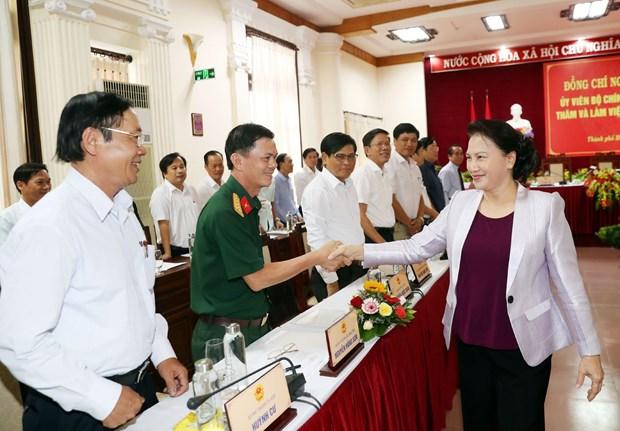 国会主席阮氏金银出席承天顺化省重建30周年庆典 hinh anh 2