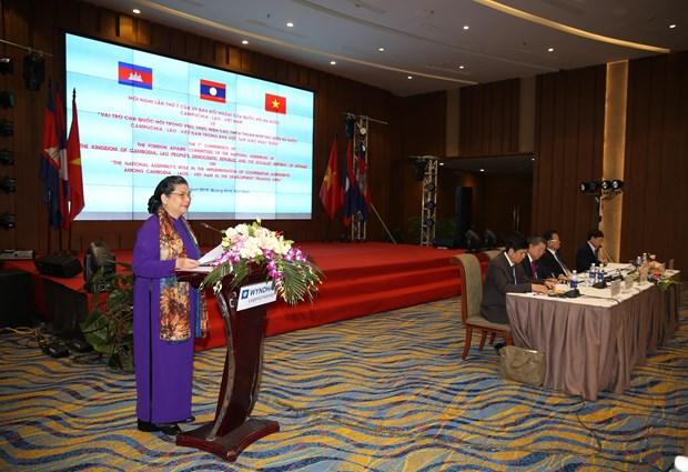柬老越三国国会对外委员会第七次会议在广宁省举行 hinh anh 1