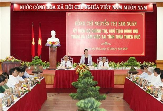 """国会主席阮氏金银:承天顺化省增长模式需与""""绿化和可持续发展""""精神对接 hinh anh 3"""