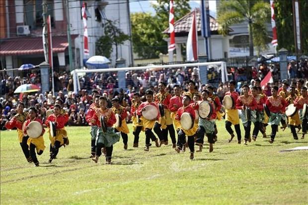 印度尼西亚国庆74周年庆祝活动在河内举行 hinh anh 2