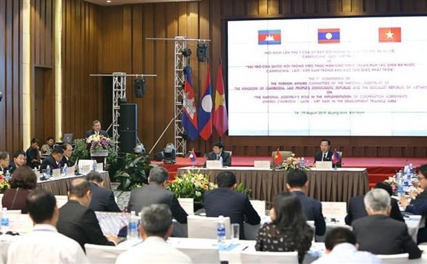 柬老越三国国会对外委员会第七次会议发表联合声明 hinh anh 1