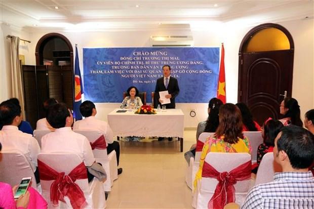 越共中央民运部部长张氏梅访问卡塔尔 hinh anh 3