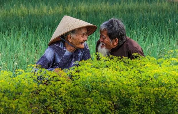 """""""越南老年夫妇秀恩爱""""照片跻身国际摄影比赛前50名单 hinh anh 1"""