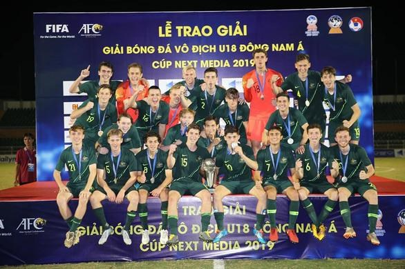 2019年东南亚U18足球锦标赛:澳大利亚队夺冠 hinh anh 1