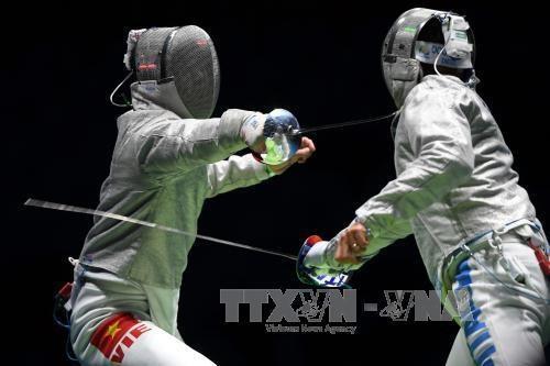 越南击剑队提出在第30届东南亚运动会获四枚金牌的目标 hinh anh 1