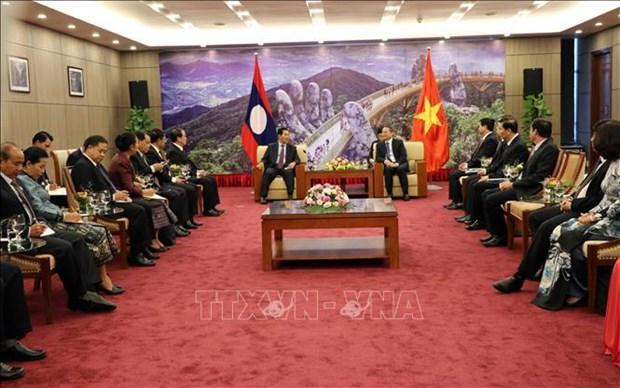 老挝国会副主席率团对岘港市进行访问 hinh anh 1