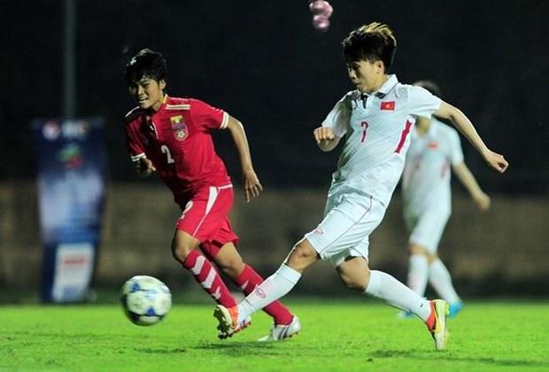 2019年东南亚女子足球锦标赛:越南队狂扫缅甸队名列B组第一 hinh anh 1