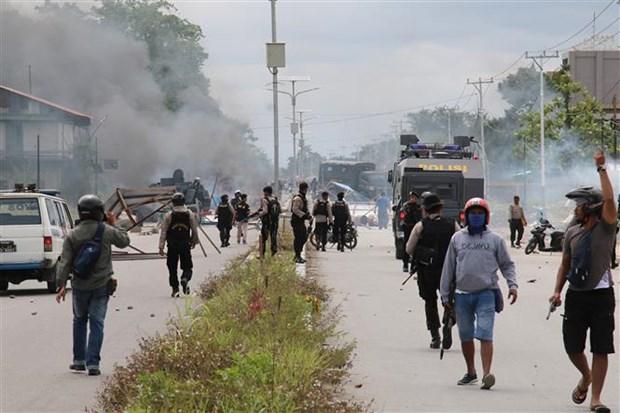 印度尼西亚加强巴布亚省安保工作 hinh anh 1