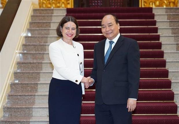 政府总理阮春福会见澳大利亚驻越大使 hinh anh 1