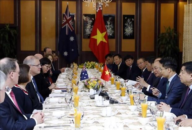 越南政府总理阮春福与澳大利亚总理斯科特•莫里森举行会谈 hinh anh 2