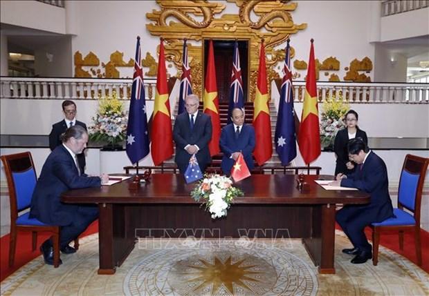 越南政府总理阮春福与澳大利亚总理斯科特•莫里森举行会谈 hinh anh 3