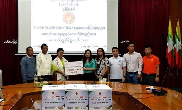  缅甸越南人为缅甸孟邦灾民提供援助 hinh anh 2