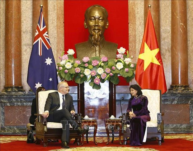 越南国家副主席邓氏玉盛会见澳大利亚总理斯科特•莫里森 hinh anh 1