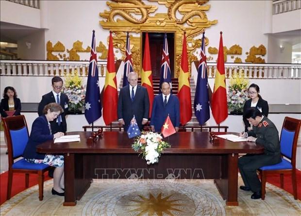 澳大利亚总理圆满结束对越南进行的正式访问 hinh anh 1