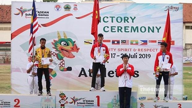 越南学生代表团在东南亚学生运动会上获得20枚奖牌 hinh anh 1