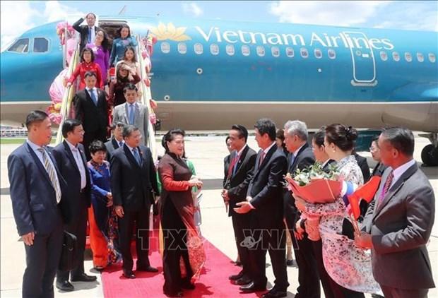 阮氏金银抵达曼谷 开始出席AIPA 40和正式访泰之旅 hinh anh 1