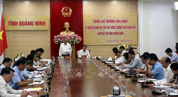 越南政府副总理张和平在广宁省调研 hinh anh 1
