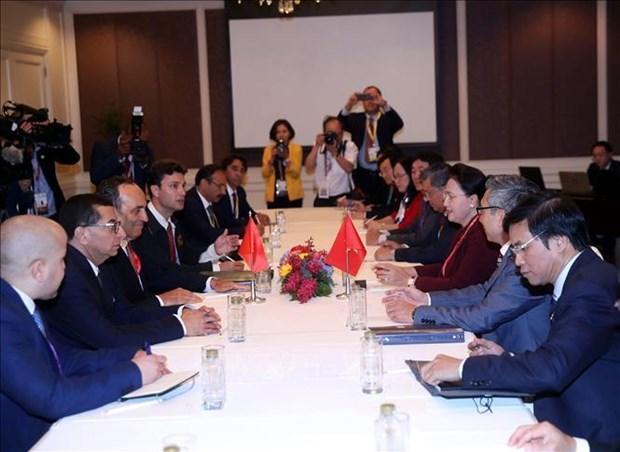 越南国会主席阮氏金银会见摩洛哥众议院议长哈比博•马勒克 hinh anh 2