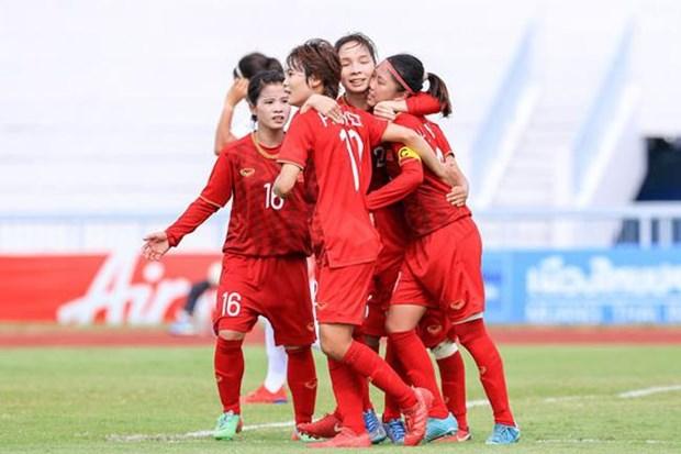 2019年东南亚女子锦标赛:越南女子足球队杀入总决赛 hinh anh 1
