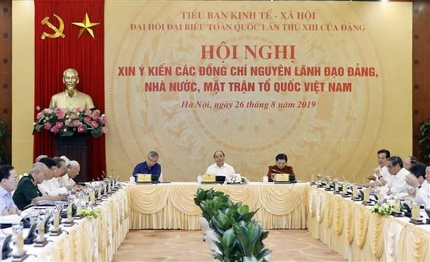 经济社会小组就越共十三大筹备工作召开会议 hinh anh 1
