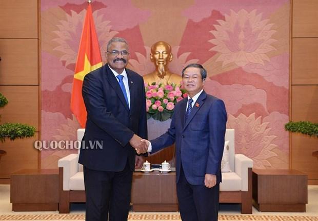 越南国会副主席杜伯巳会见古巴最高人民法院院长 hinh anh 1