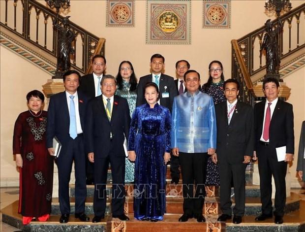 越南国会主席阮氏金银与泰国总理巴育举行会晤 hinh anh 1