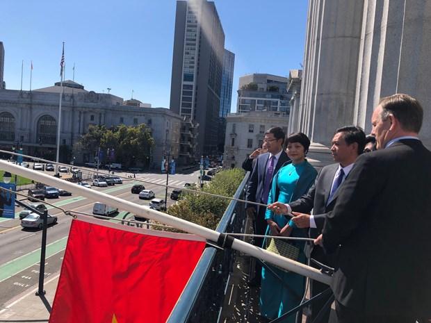 越南驻旧金山市总领事馆举行升旗仪式庆祝越南国庆74周年 hinh anh 1