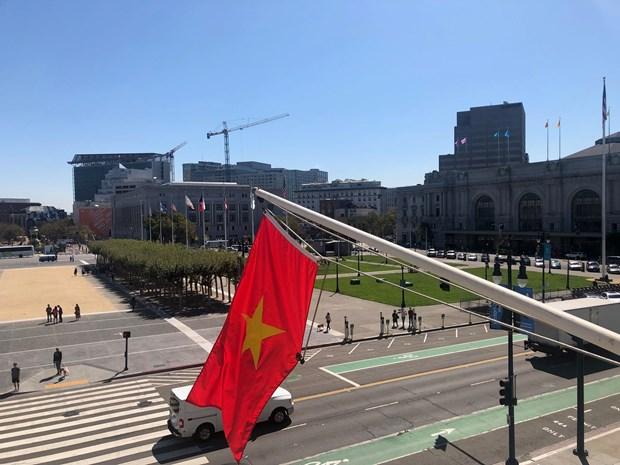 越南驻旧金山市总领事馆举行升旗仪式庆祝越南国庆74周年 hinh anh 2