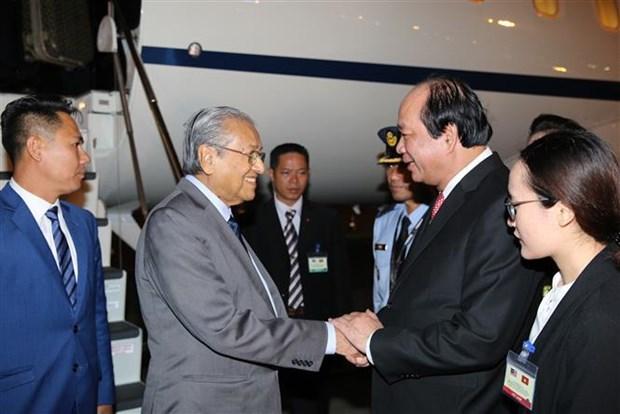 马来西亚总理马哈蒂尔开始访问越南 hinh anh 2
