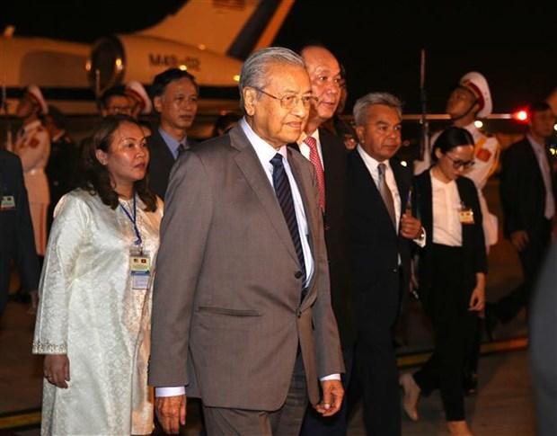 马来西亚总理马哈蒂尔开始访问越南 hinh anh 1