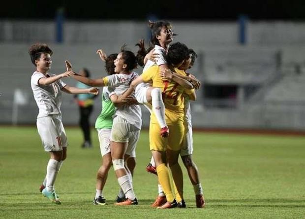 2019年东南亚女子足球锦标赛:越南队战胜泰国队夺取冠军 hinh anh 1
